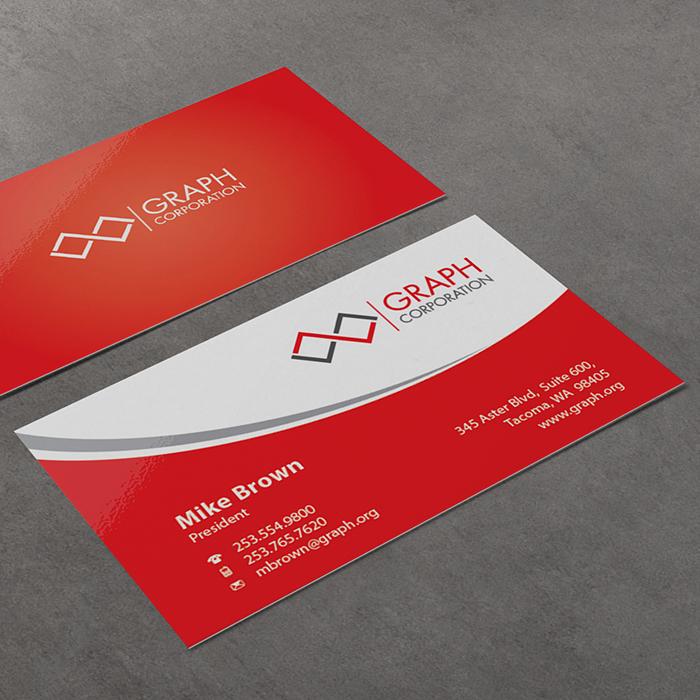 Business Cards Uv 1 Or 2 Sided Coating Square Corner