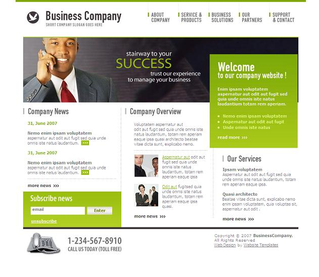 Free Business Site Templates Images - Business Cards Ideas